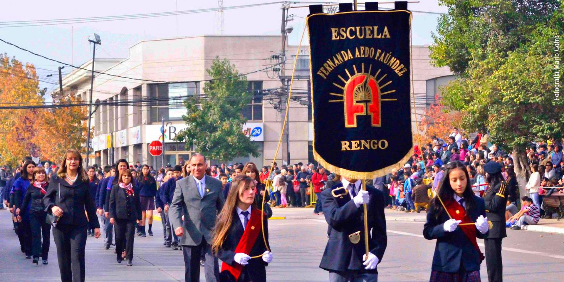 Estandarte escuela Fernanda Aedo Rengo