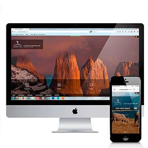 Sitio web Hotel Costaustralis y Hotel Cabo de Hornos